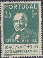 Portugal 1940 Centenary of First Adhesive Postage Stamps c