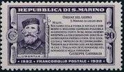 San Marino 1932 50th Anniversary of Giuseppe Garibaldi Death b