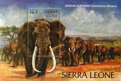 Sierra Leone 1983 WWF - Chimpanzees from Outamba-Kilimi National Park SSa