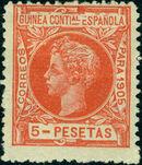 Spanish Guinea 1905 Alfonso XIII o