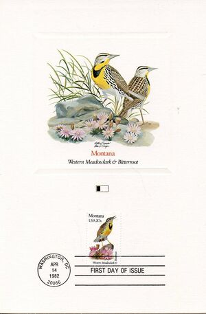 United States of America 1982 State birds and flowers FOLc8