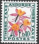 Andorra-French 1971 Flowers - 3rd Group (Postage Due Stamps) b