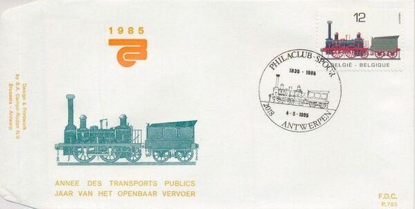 Belgium 1985 Public Transportation Year FDCB1