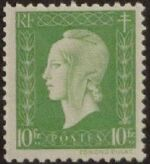 France 1945 Marianne de Dulac (2nd Issue) p