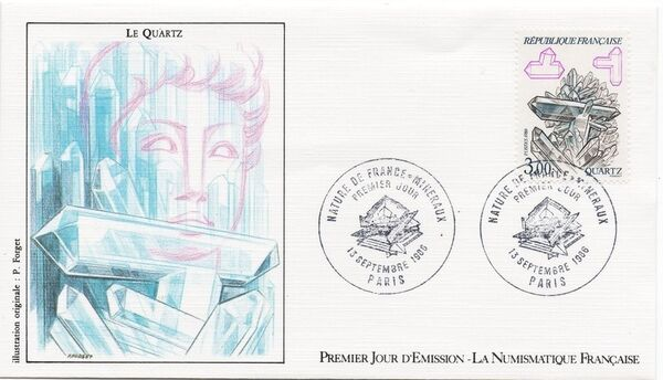 France 1986 Minerals FDCf
