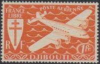 French Somali Coast 1941 Airmail a