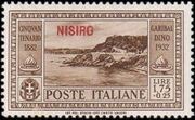 Italy (Aegean Islands)-Nisiro 1932 50th Anniversary of the Death of Giuseppe Garibaldi h