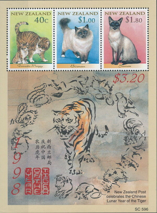 New Zealand 1998 Year of the Tiger h