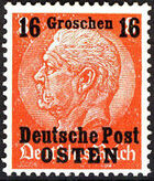 Poland-General Government 1939 Stamps from German Empire 1905 Surcharged and Overprinted d