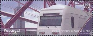 Portugal 1999 Inauguration of Rail Link Over 25th of April Bridge c