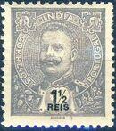 Portuguese India 1903 D. Carlos I - New Colours and Values b