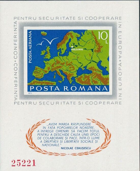 Romania 1975 Conference on Security and Cooperation in Europe i