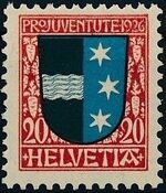 Switzerland 1926 PRO JUVENTUTE - Coat of Arms c