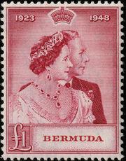 Bermuda 1948 Silver Wedding of King George VI & Queen Elizabeth b