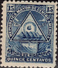 "Nicaragua 1898 Coat of Arms of ""Republic of Central America"" f"