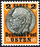 Poland-General Government 1939 Stamps from German Empire 1905 Surcharged and Overprinted m