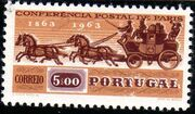 Portugal 1963 100th Anniversary of the 1st International Mail Conference c