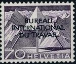 Switzerland 1950 Landscapes and Technology Official Stamps for The International Labor Bureau k