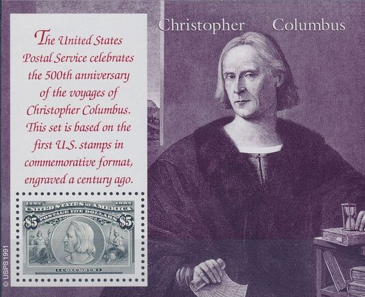 United States of America 1992 Voyages of Columbus SSf