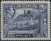 Aden 1951 King George VI Pictorials with New Values c