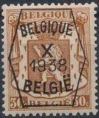 Belgium 1938 Coat of Arms - Precancel (10th Group) d