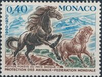 Monaco 1970 20th Anniversary of World Federation for Protection of Animals b