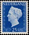 Netherlands 1947 Queen Wilhelmina - Type Hartz e