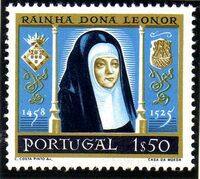 Portugal 1958 500th anniversary of the birth of Queen Saint Leonor b