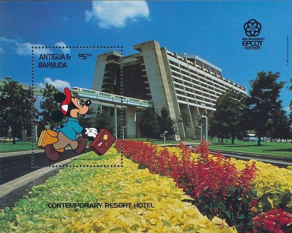 Antigua and Barbuda 1988 Disney - EPCOT Centre - Orlando Florida h