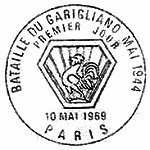 France 1969 25th Anniversary of the Battle of the Garigliano P