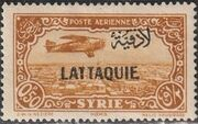 Latakia 1931 Air Post Stamps of Syria 1931 Overprinted a