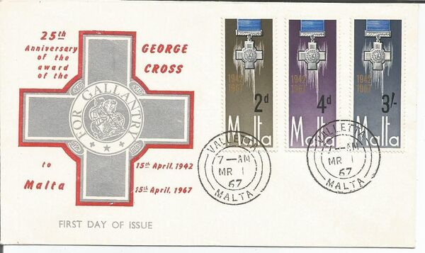 Malta 1967 25th Anniversary Of The George Cross Award w