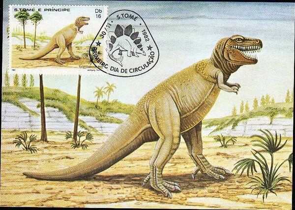 St Thomas and Prince 1982 Dinosaurs k