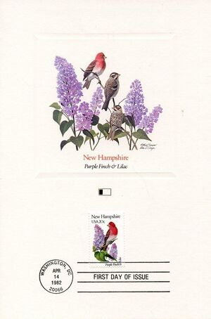 United States of America 1982 State birds and flowers FOLd2