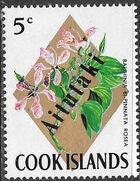 Aitutaki 1972 Flowers from Cook Islands Overprinted AITUTAKI e