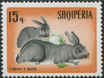 Albania 1967 Hares and Rabbits a