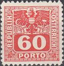 Austria 1945 Coat of Arms and Digit j