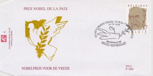 Belgium 1999 Nobel Prize Winners FDCa