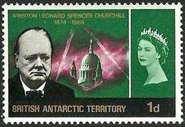 British Antarctic Territory 1966 Churchill Memorial b