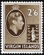 British Virgin Islands 1938 George VI and Seal of the Colony i