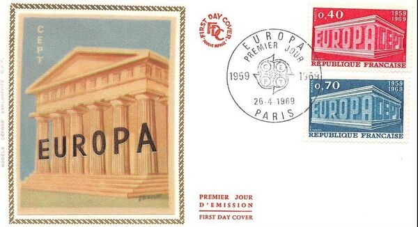 France 1969 EUROPA FDCa