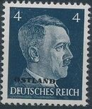 German Occupation-Russia Ostland 1941 Stamps of German Reich Overprinted in Black c