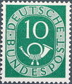 Germany, Federal Republic 1951 Posthorn and Numbers f.jpg