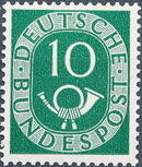 Germany, Federal Republic 1951 Posthorn and Numbers f