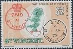 St Vincent 1979 Cancellations and Location of Village q