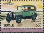 Tuvalu 1984 Leaders of the World - Auto 100 (1st Group) j