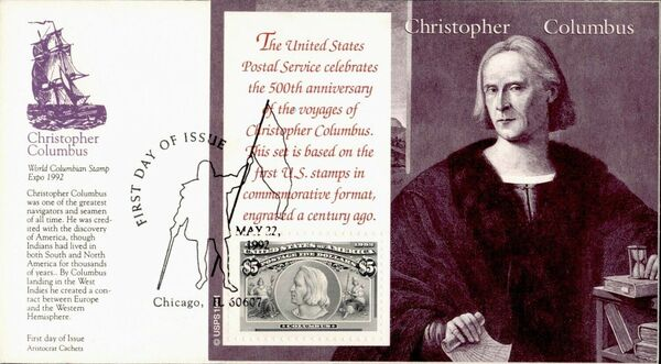United States of America 1992 Voyages of Columbus FDCf