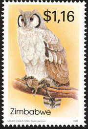 Zimbabwe 1993 Native Owls 2nd Issue d