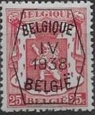 Belgium 1938 Coat of Arms - Precancel (4th Group) c