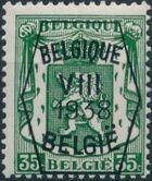 Belgium 1938 Coat of Arms - Precancel (8th Group) e